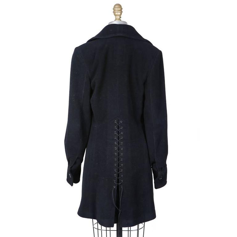 Alaia Wool Coat circa 1990s 2