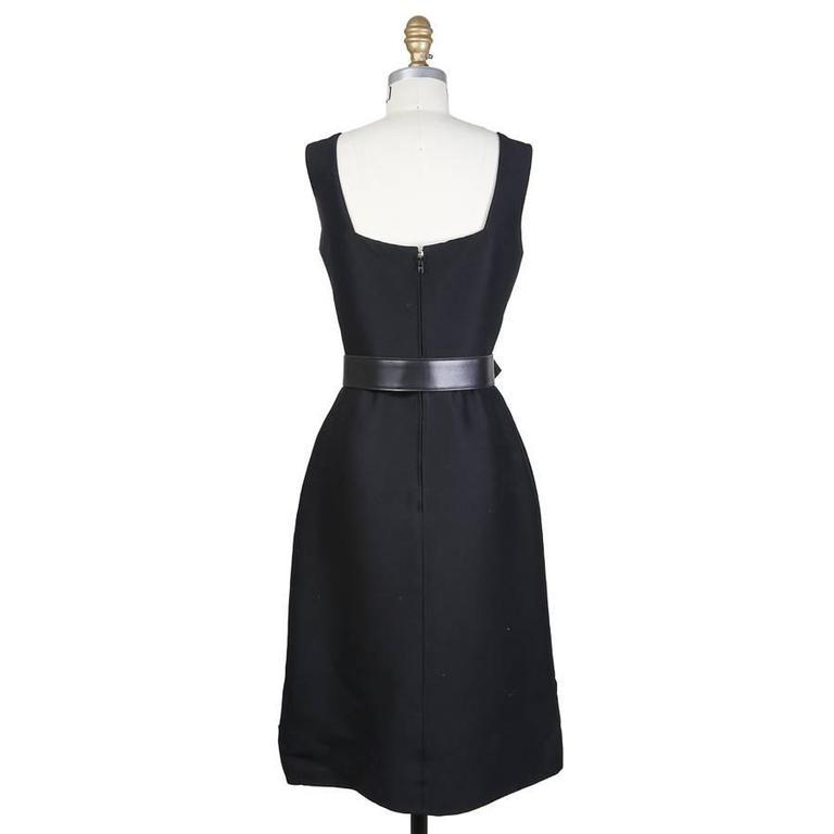 Balmain Belted Little Black Dress circa 1960s 2
