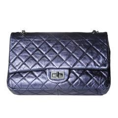 Chanel Dark Metallic Blue Shoulder Bag from 2008
