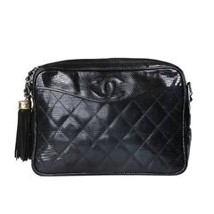 Chanel Quilted Lizard Shoulder Bag circa 1987