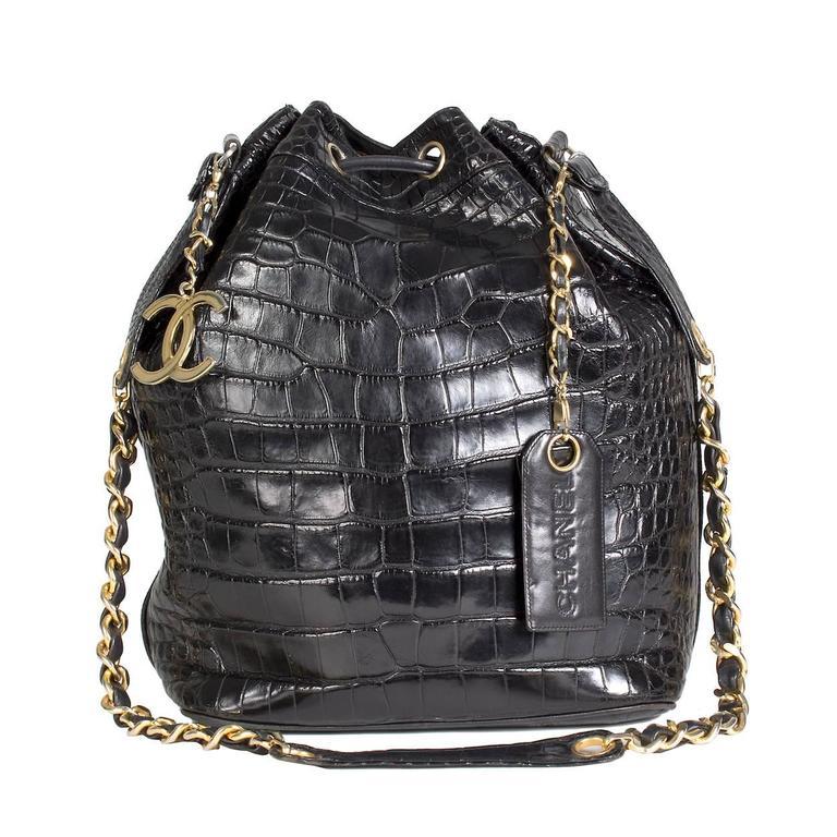 Chanel Croc Bucket Bag, 1989-1991