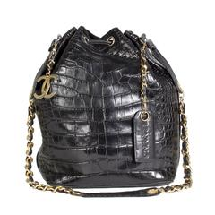 Chanel Croc Bucket Bag, 1989-1991