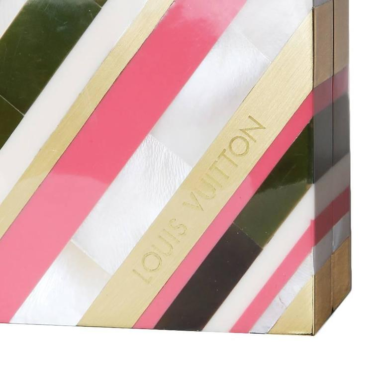 Louis Vuitton Limited Edition Enamel Inlay Clutch In Good Condition For Sale In Los Angeles, CA