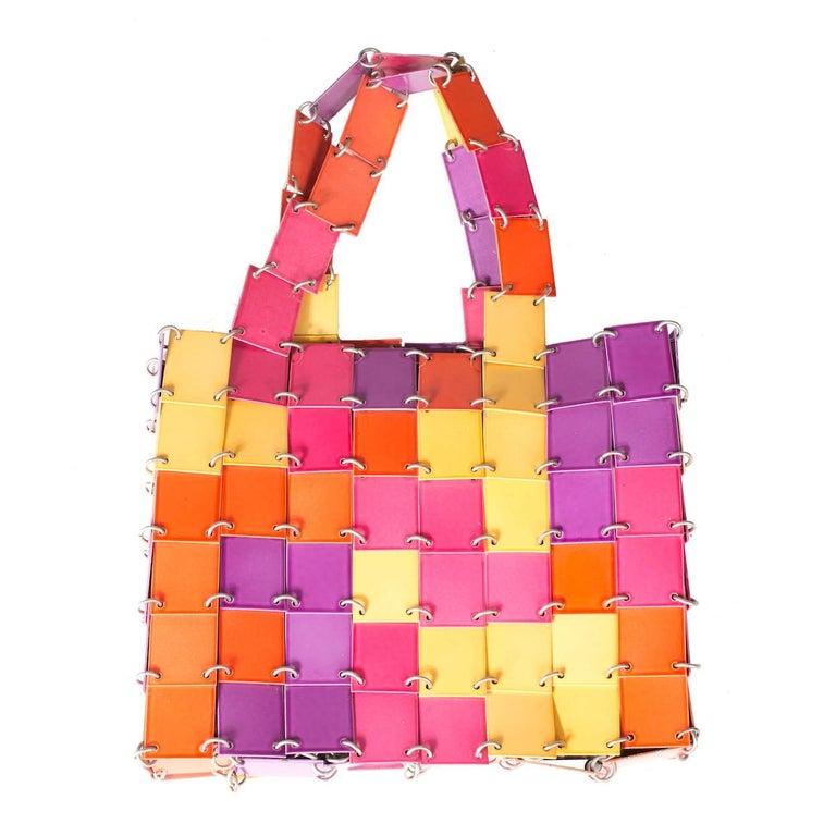 Paco Rabanne Multicolor Metal Plates Handbag
