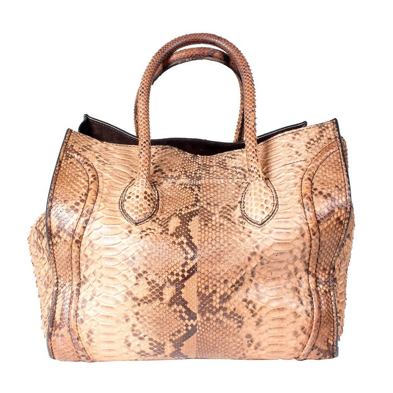 Celin Supple Snakeskin Phantom Tote 3