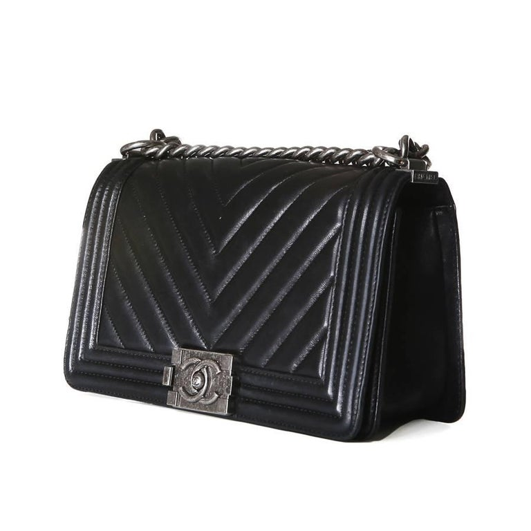 Chanel Boy Bag with Quilted Chevron Flap, 2010 2