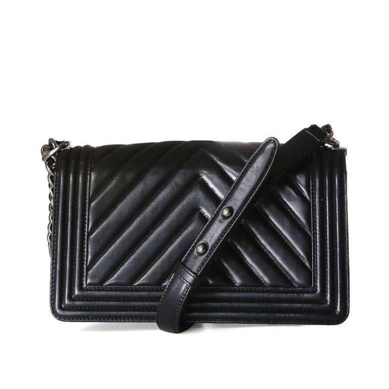 Chanel Boy Bag with Quilted Chevron Flap, 2010 3