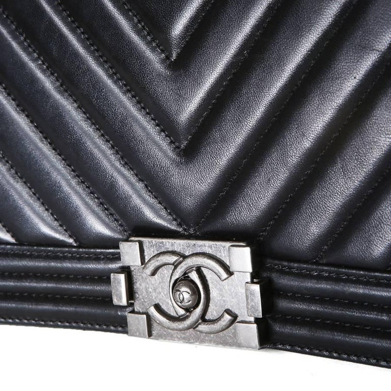 Chanel Boy Bag with Quilted Chevron Flap, 2010 4