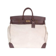 Hermes HAC 50cm Travel Birkin in Toile