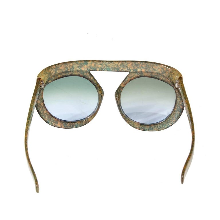 Gray Christian Dior Vintage 2030 Sunglasses from the 1970s For Sale