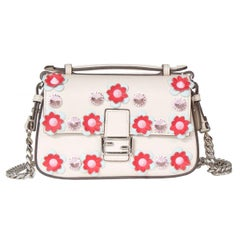 Fendi Leather Flowes Mini Shoulder Bag