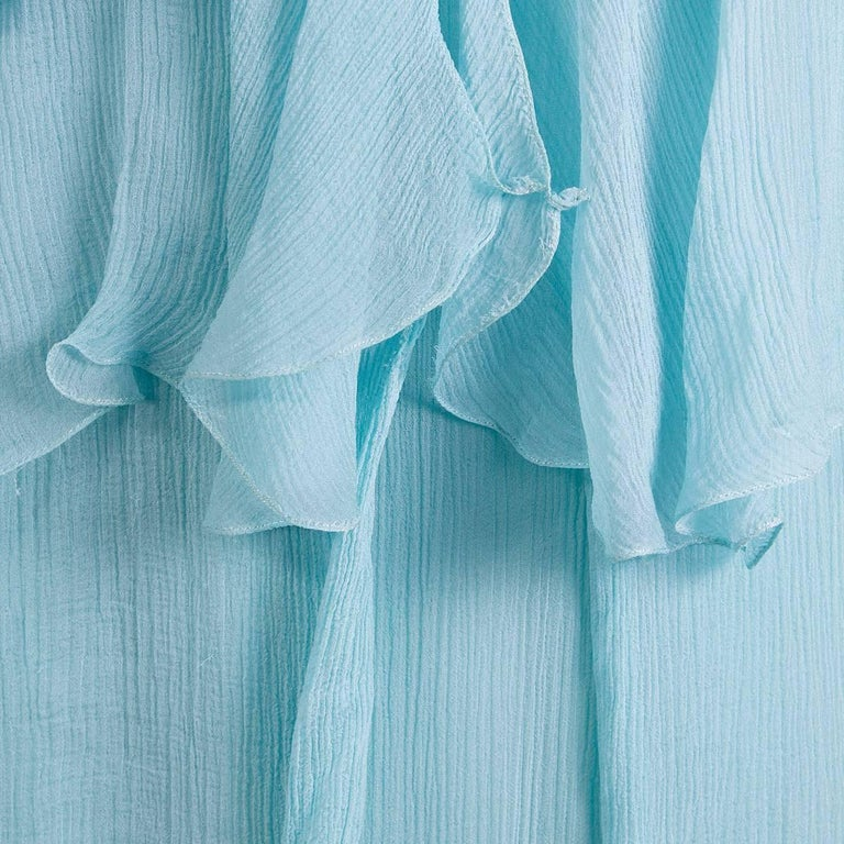 John Galliano Tiered Ruffles Chiffon Top In Excellent Condition For Sale In Los Angeles, CA