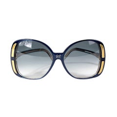 Nina Ricci Oversized Sunglasses in Blue and Gold