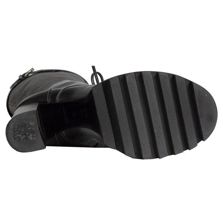 9447cc135c27 Women s Louis Vuitton Metallic Silver Leather Combat Boots For Sale