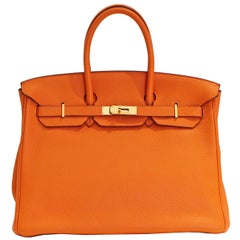 Hermes Birkin 35cm in Orange Togo, 2009