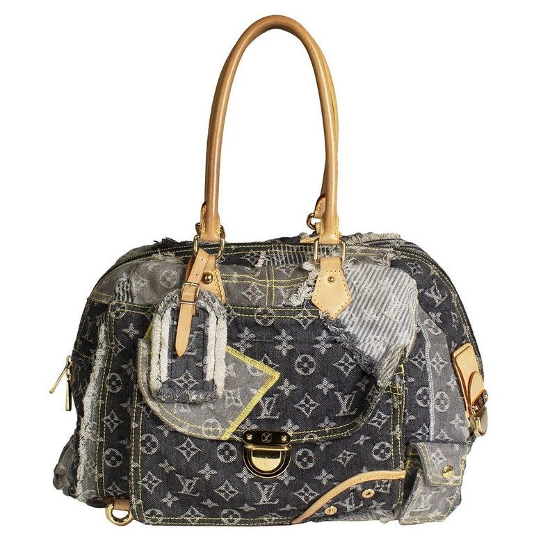Louis Vuitton LV Monogram Denim Patchwork Bowly Shoulder Bag from 2007