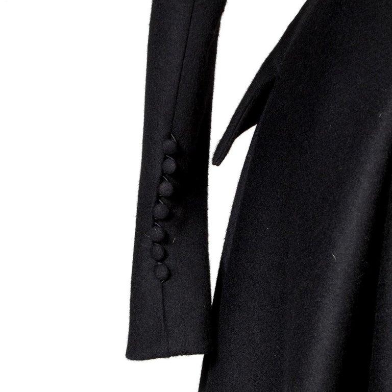 Women's John Galliano Black Wool Coat, circa 1990s For Sale