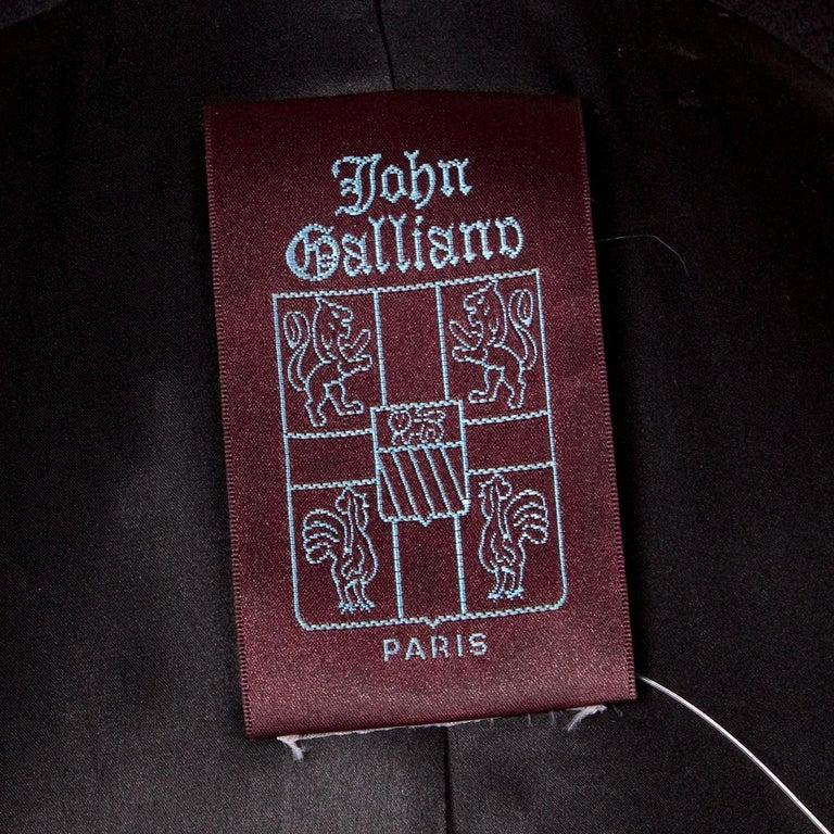 John Galliano Black Wool Coat, circa 1990s For Sale 1