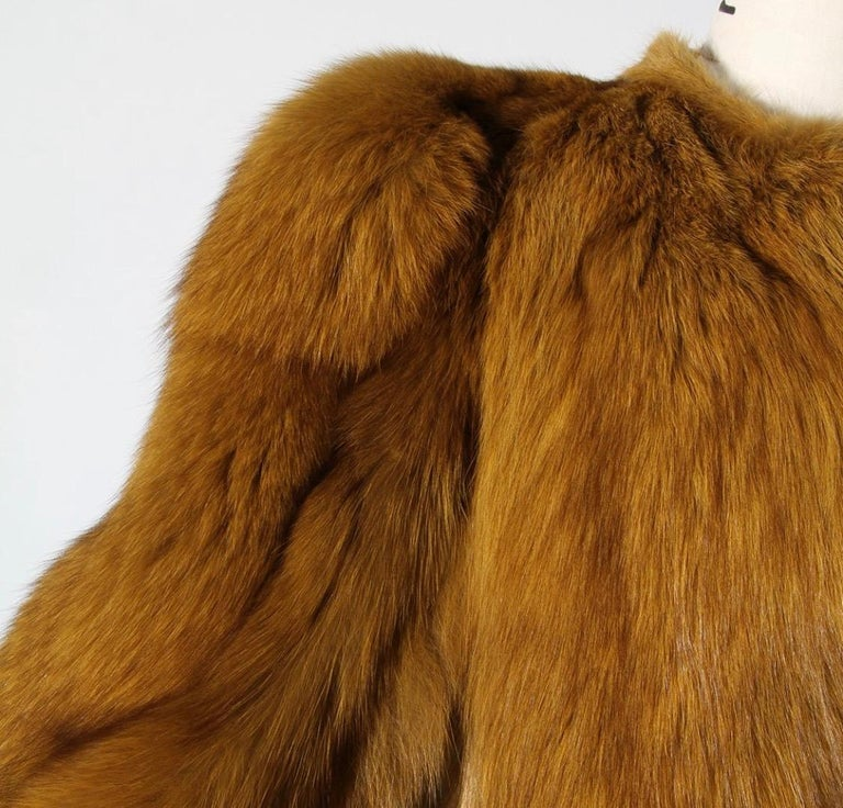 Yves Saint Laurent 1971 Scandal Chubby Fur Short Coat