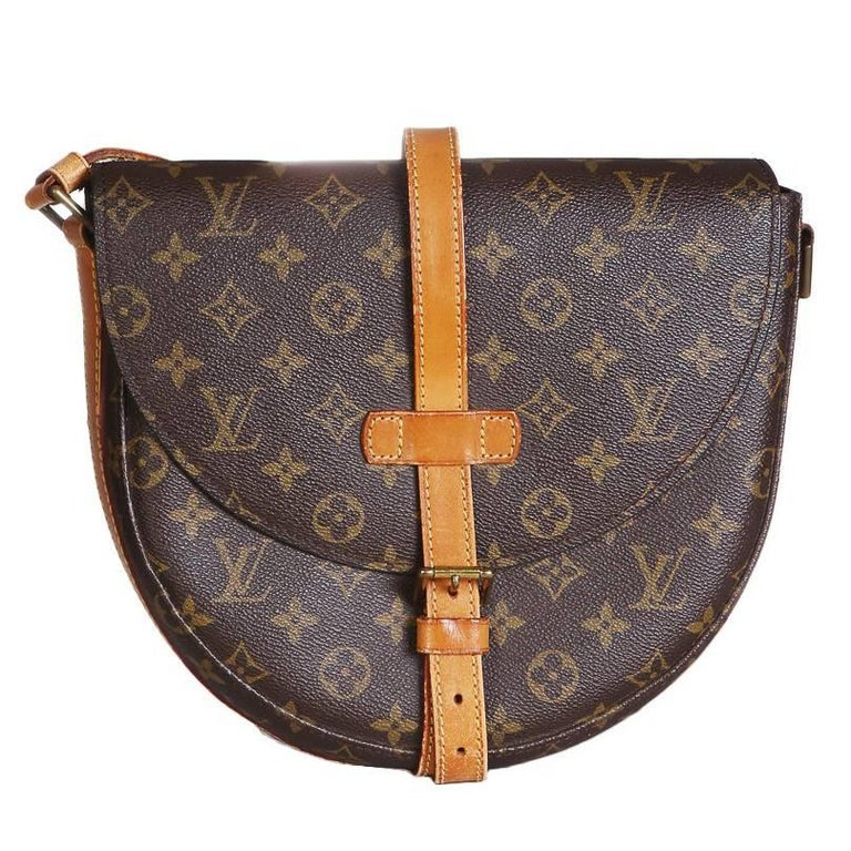 359fb11f6519 Louis Vuitton Vintage Leather Monogram Crossbody Saddle Bag at 1stdibs