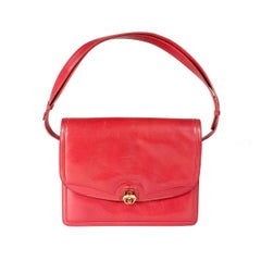 Gucci Red Leather vintage Shoulder Bag