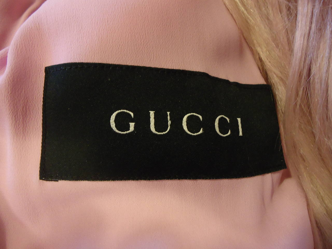 2001 Gucci by Tom Ford Pink Kidassia Fur Coat For Sale 2
