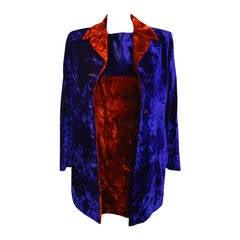 1990s Istante Gianni Versace Dress and Overcoat Suit