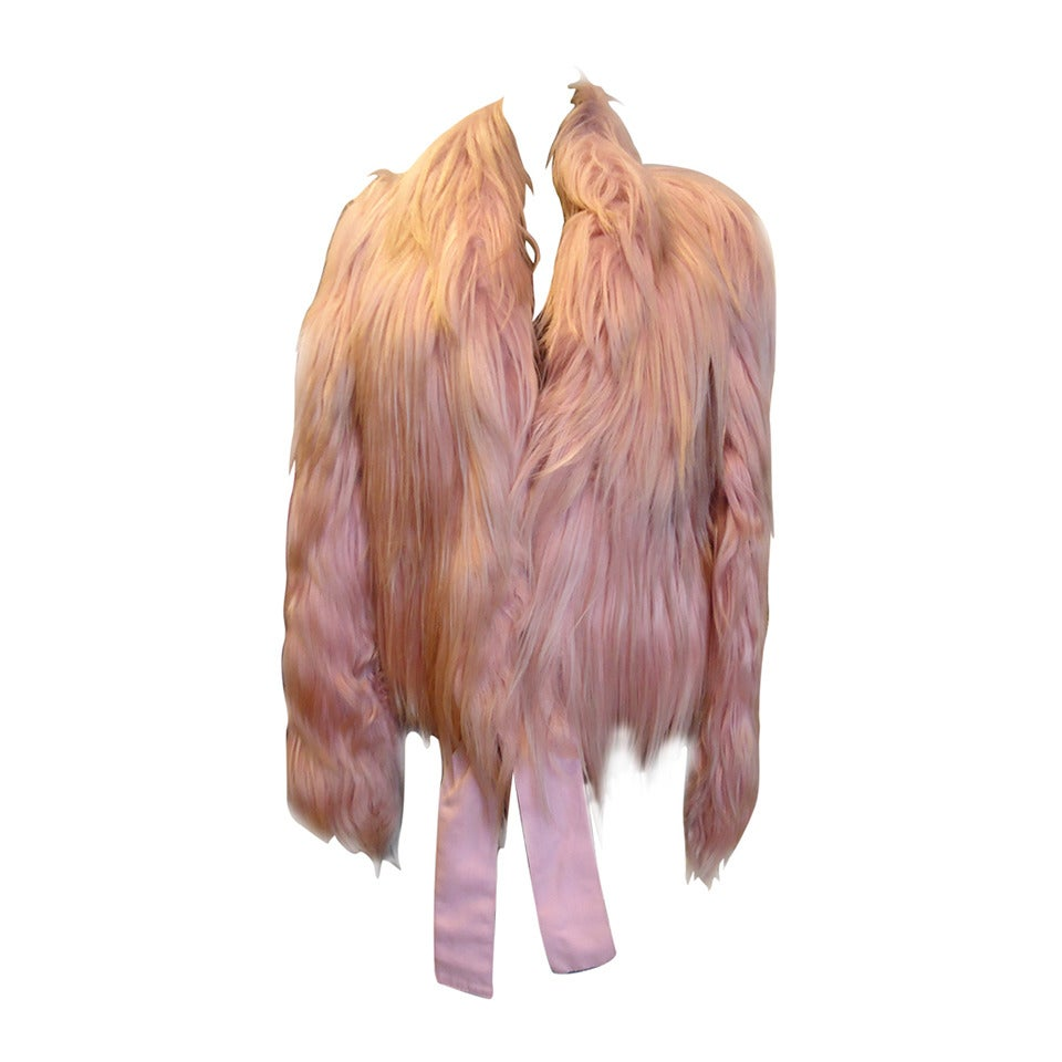 2001 Gucci by Tom Ford Pink Kidassia Fur Coat For Sale
