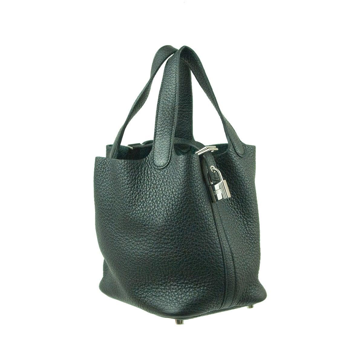 4fc0803972f Hermès Picotin Lock PM Black Bag In New Condition For Sale In Gazzaniga (BG)