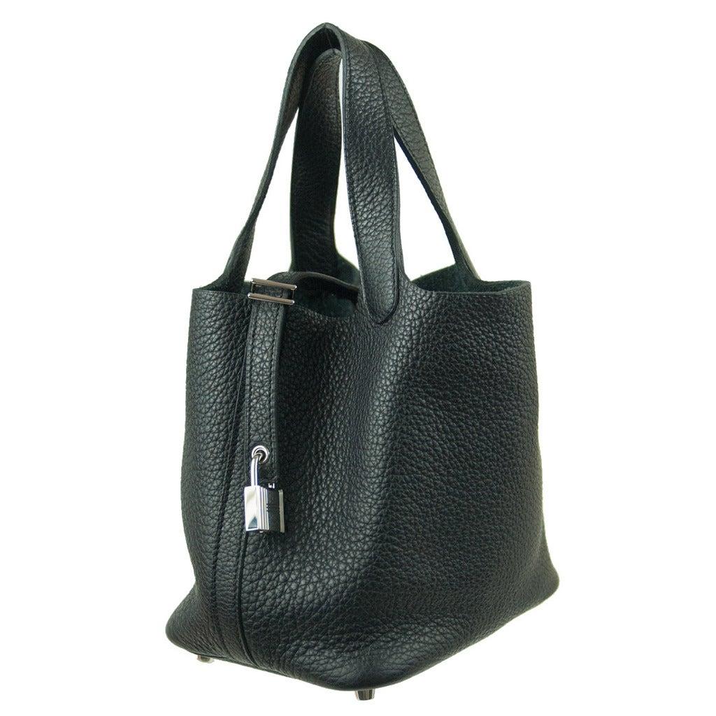 9a923cdf7de Hermès Picotin Lock PM Black Bag at 1stdibs