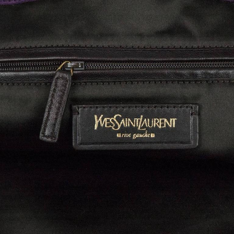 Women s or Men s Yves Saint Laurent Purple Downtown Large Bag For Sale 141a1922e8da4