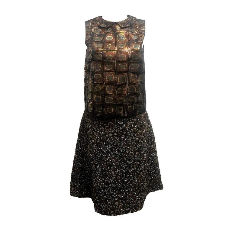 Rochas Embossed Skirt and Top Suit