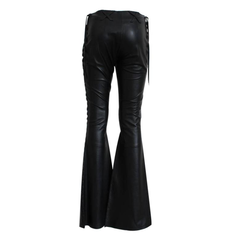 Dolce & Gabbana Blacl Leather Pants 2