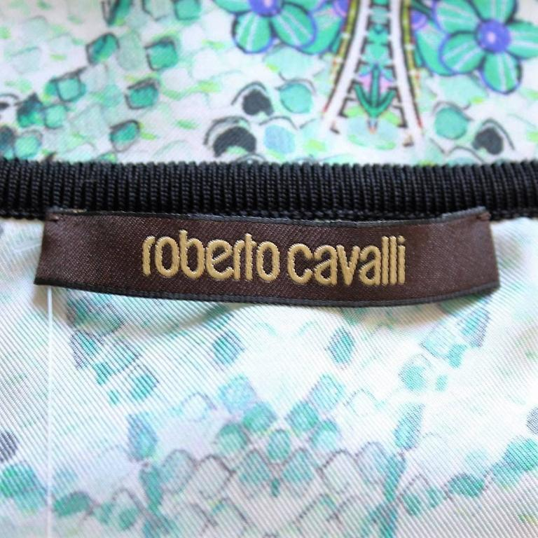 Women's Roberto Cavalli Fancy Silk T-Shirt For Sale