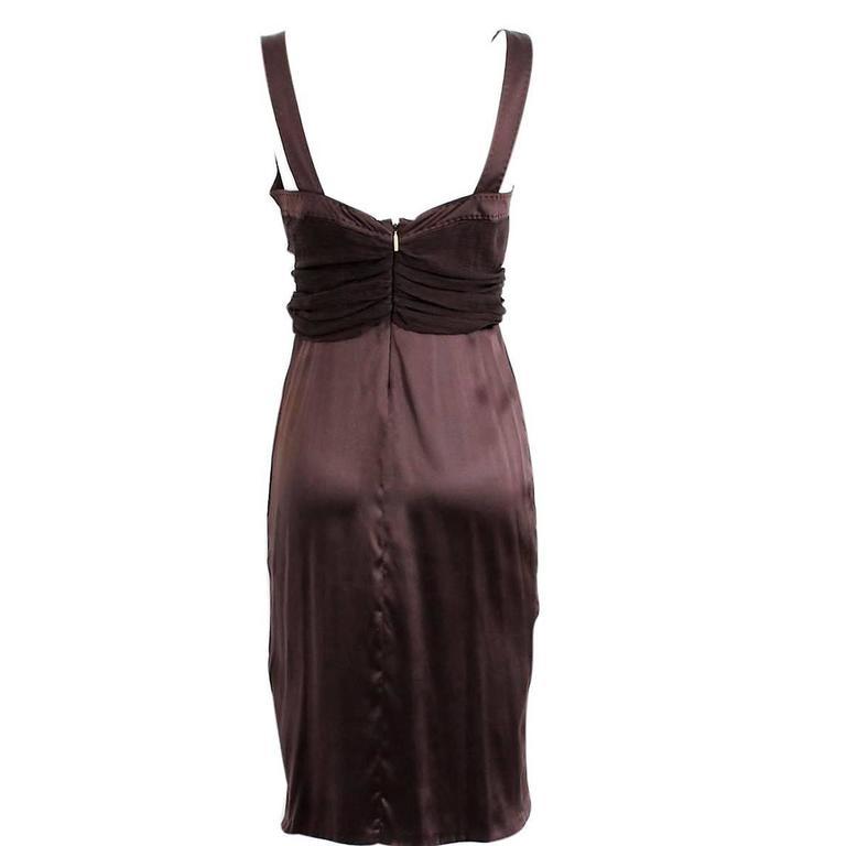 Roberto Cavalli Brown Silk Cocktail Dress 2
