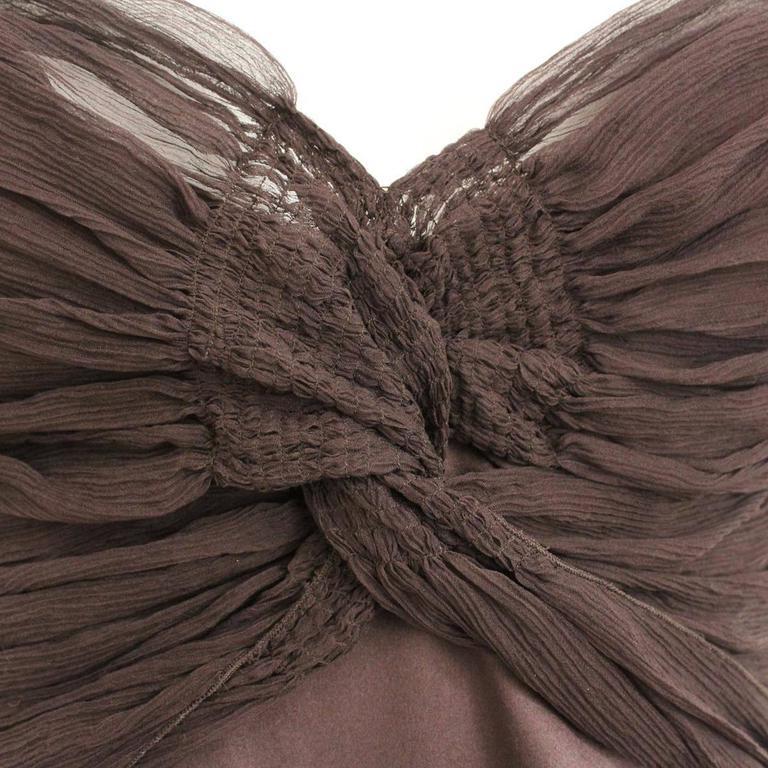 Roberto Cavalli Brown Silk Cocktail Dress 3
