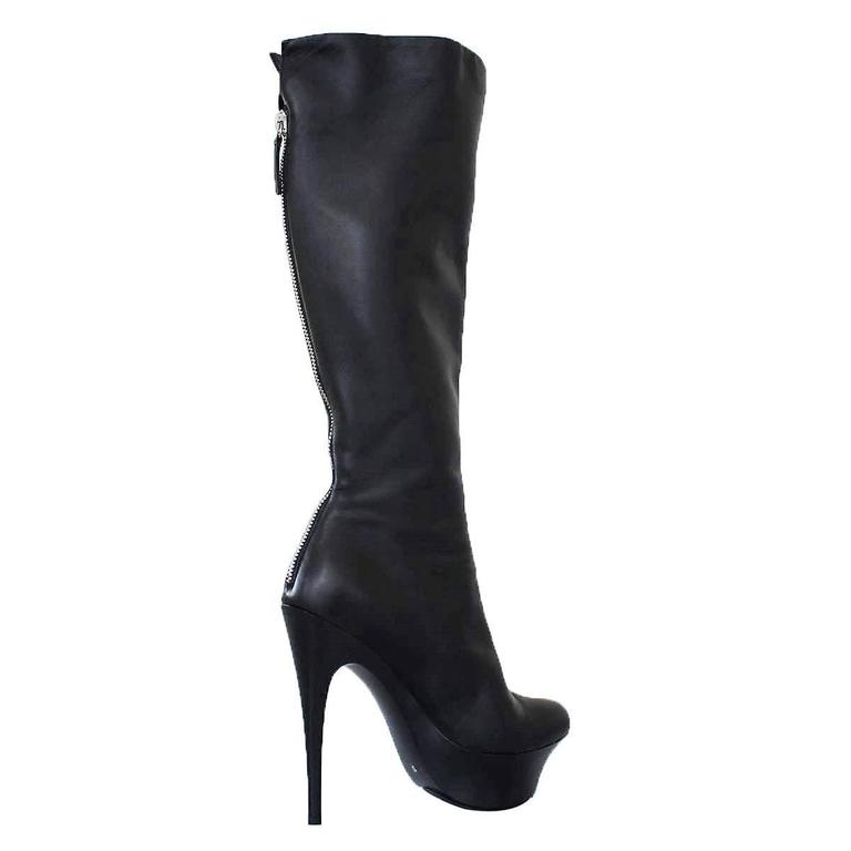 Giuseppe Zanotti Design Black Leather Boots 37 2