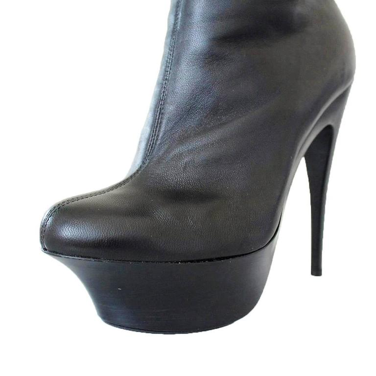 Giuseppe Zanotti Design Black Leather Boots 37 For Sale 1