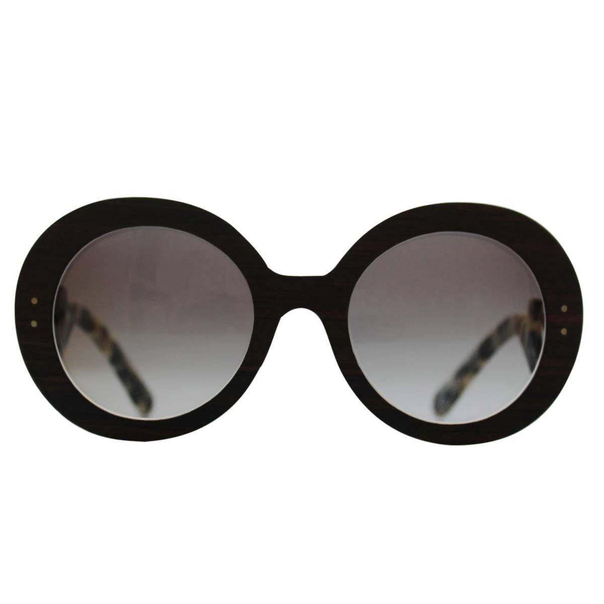 1ba6d19407 Prada Converted Sunglasses - Prada Baroque New Collection Available Prada  OPR27RS Wood Baroque Sunglasses at 1stdibs