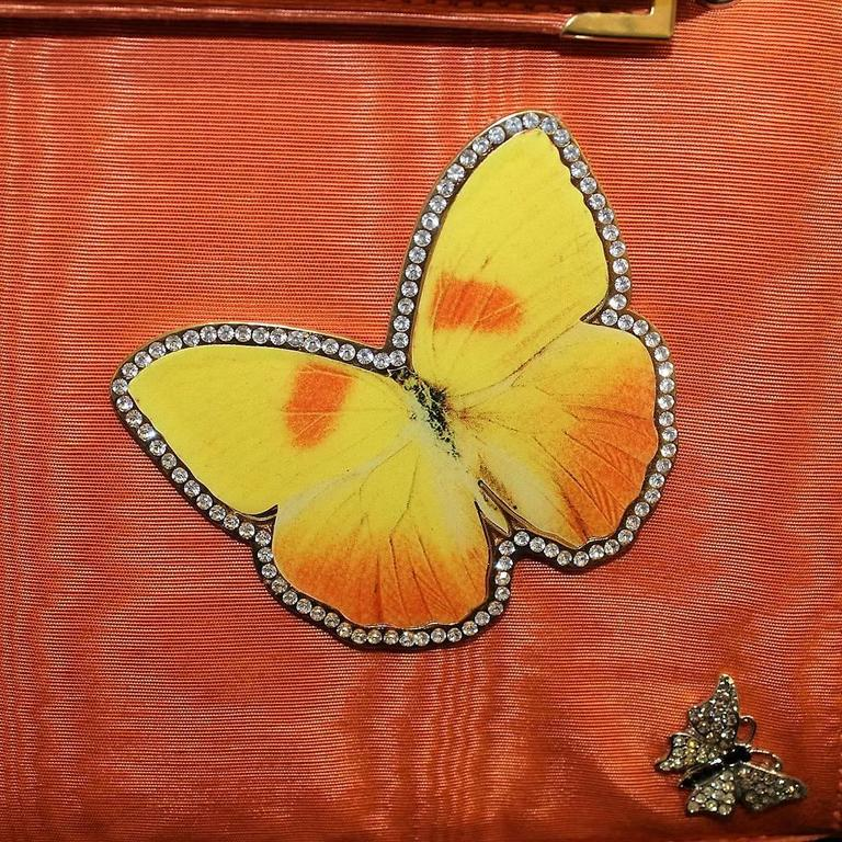 Carlo Zini Milano Butterflies Jewel Bag Unique Piece 4