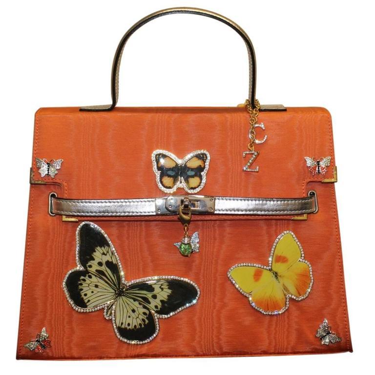 Carlo Zini Milano Butterflies Jewel Bag Unique Piece