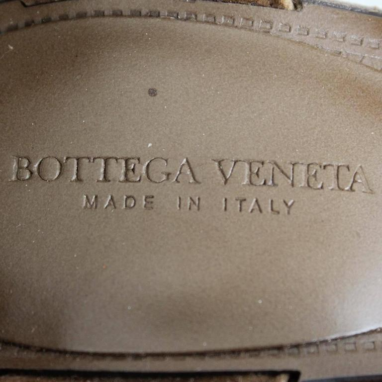 Bottega Veneta Straw Wedge Sandal 38,5 5