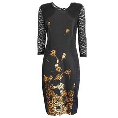 Blumarine Black Lace Dress 46