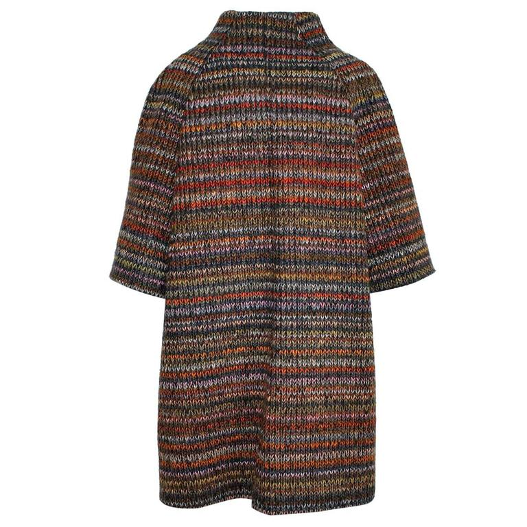 Stella Jean Multicolored Wool Coat At 1stdibs
