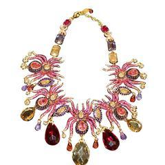 Carlo Zini Unique Spiders Necklace