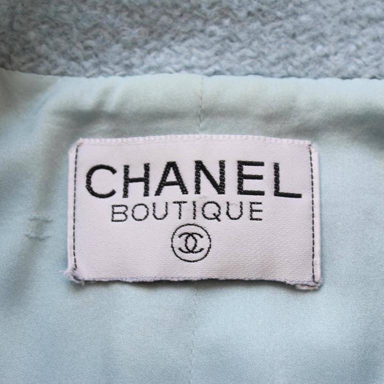 1996 Vintage Chanel  Azure Wool Jacket 4
