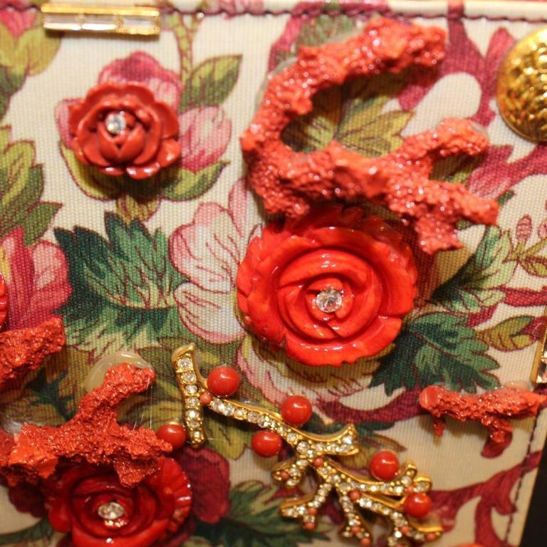 Unique Carlo Zini Floral Jewel Bag 4