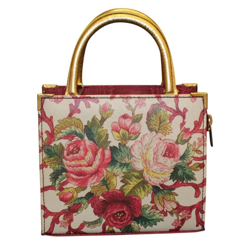 Unique Carlo Zini Floral Jewel Bag 2