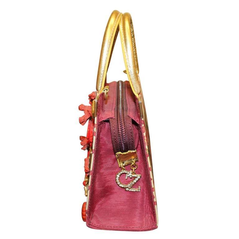 Unique Carlo Zini Floral Jewel Bag 3