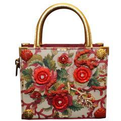 Unique Carlo Zini Floral Jewel Bag